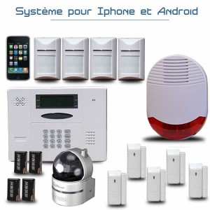alarme de maison avec cam ra ip cam ra ip et syst me de vid osurveillance. Black Bedroom Furniture Sets. Home Design Ideas